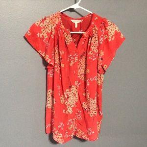 Rebecca Taylor Silk Front Button Flora Blouse 10